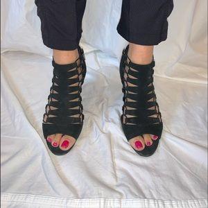 Vince Camuto black open toe heels